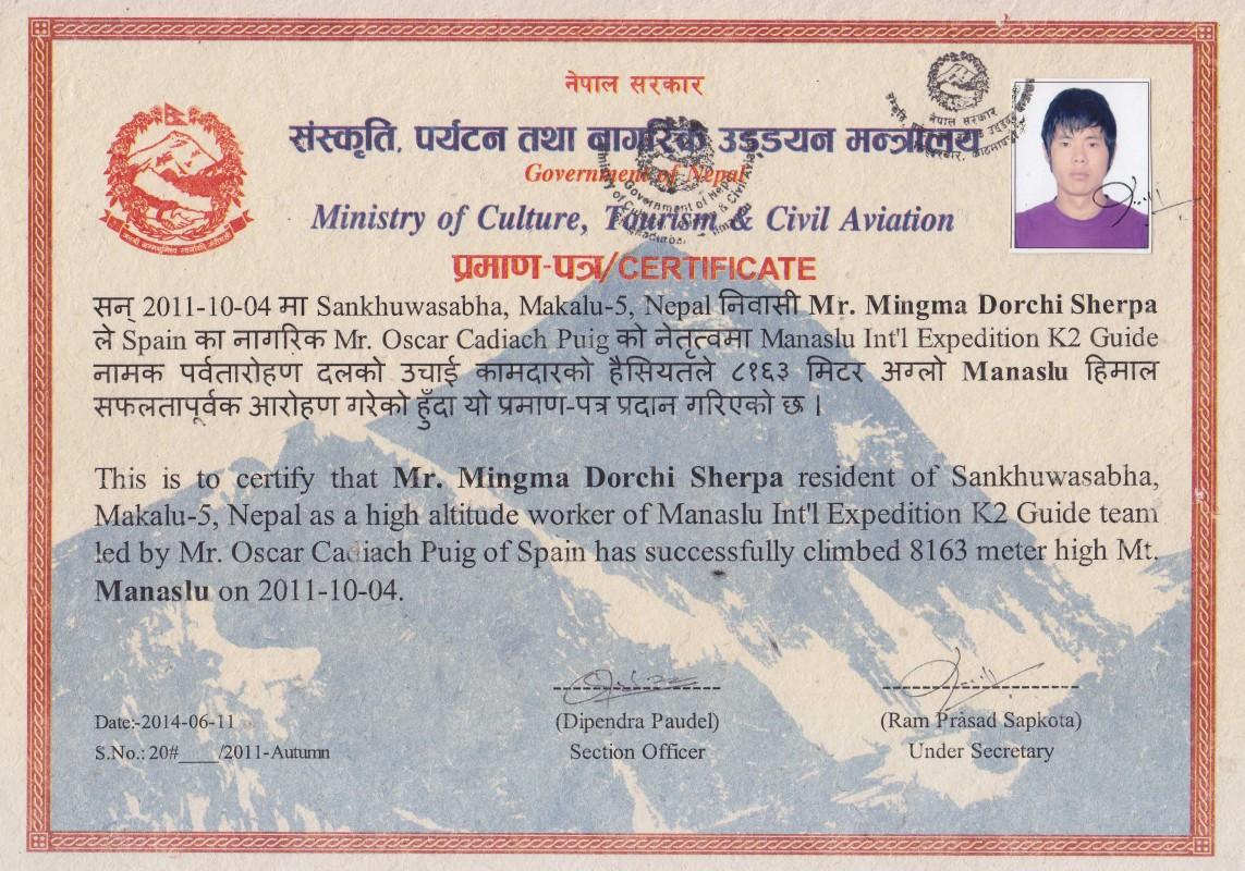 Mingma Dorchi Sherpa